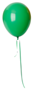 Green Birthday Balloon