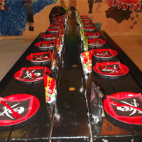 Party Room Set Up at a Pirate Adventures Birthday Party