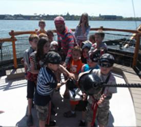 Hauling the treasure at Pirate Adventures
