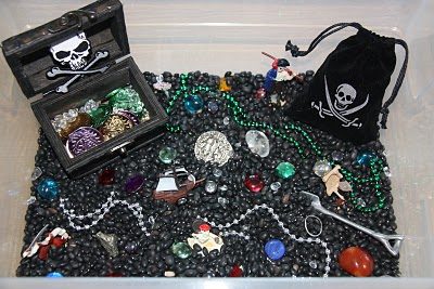 Sensory Tub - Pirate Activities for kids