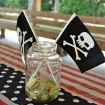 Mason Jar pirate centerpiece