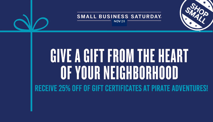 Gift Certificates Small Business Saturday