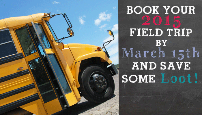 book your field trip with Pirate Adventures and receive an early booking discount