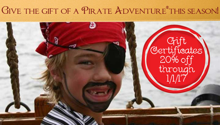 Discounted tickets available for the holidays at Pirate Adventures